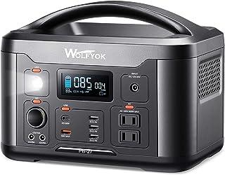 ポータブル電源 PD60Wの入力/出力両方対応Type-C 10個出力ポート 大容量 139200mAh/501Wh AC(500W 瞬間最大1000W) 4.7kg超軽量 Wolfyok(ウルフヨック) LCDディスプレー インタフェースボタ...