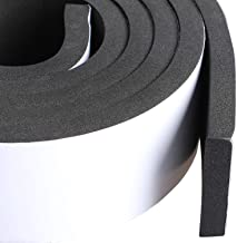 Foam Weather Stripping Adhesive 2 Inch Wide X 3/8 Inch Thick, Door Jamb Weather Seal Neoprene Window Foam Tape Outdoor Car Weather Stripping Roll, Total 6.5 Feet Long