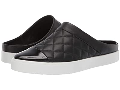 ECCO Gillian Quilted Slide (Black/Black Cow Leather/Cow Leather) Women