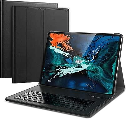 iPad Pro 12 9 Inch 2018 Wireless Tastatur Keyboard PU H lle mit Hintergrund Backlight Ultra Slim Tastatur H lle Keyboard Case kampatibel Drahtlos englische Version Black Schätzpreis : 39,99 €