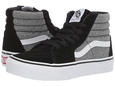 Vans Kids SK8-Hi (Little Kid/Big Kid) ((Suede) Suiting/Black) Boys Shoes