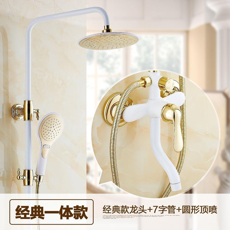 NewBorn Faucet Küche oder Badezimmer Waschbecken Mischbatterie Dusche Kit schwarz Messing voll Wasser S Dusche Booster Regen Sprinkler F Tippen