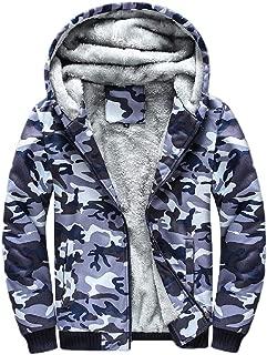 Howely Men's Relaxed Plus Size Zip Fleece Hood Fall Winter Sweatshirt