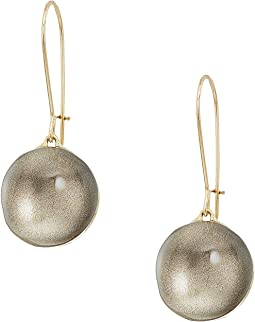 Dangling Sphere Kidney Wire Earrings