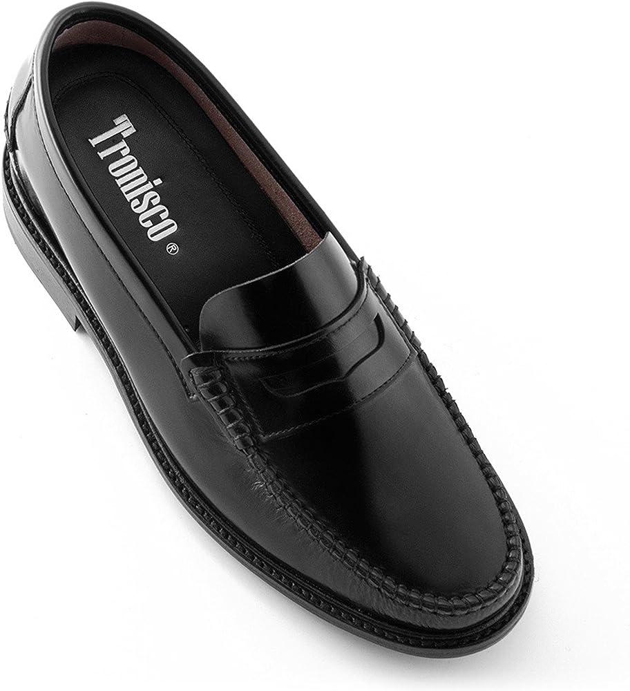 Masaltos,scarpe con rialzo da uomo che aumentano l'altezza fino a 7 cm,in pelle AROSA