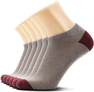 SOXTOWN Men's No Show Athletic Cotton Socks,6 Pairs Super Soft Durable Low Cut Casual Socks