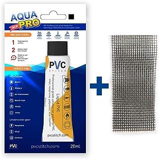 AquaPro BLACK Liquid Patch Waterproof Repair Kit For Vinyl Inflatable & Underwater Gear | Sealer +Cord |