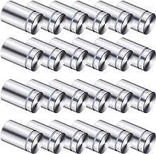 SSB-JIAJUPJ 50 pakketten borden voor reclame, schroeven van roestvrij staal, wandstop, acrylglas, voor glas- en S-illustra...
