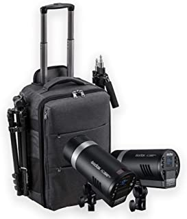 Godox AD300 Pro Twin Kit Studio Portable Flash 300 Ws TTL HSS 1/800 de alta velocidad bicolor lámpara de modelado 3000 K 6...