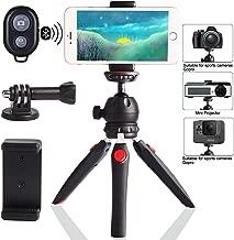 Regetek Camera Tripod with Wireless Remote, Phone GoPro Mount,Mini Tabletop Travel vlogging Tripod Stand for Phone Webcam,GoPro Action Cam/DSLR Canon Nikon Sony
