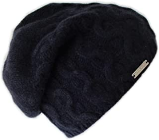 Frost Hats Luxurious Trendy Cashmere Slouchy Hat for Women Cable Beanie CSH-735