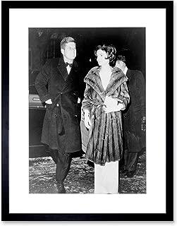 VINTAGE PHOTO PORTRAIT JOHN KENNEDY JACKIE JFK PRESIDENT FRAMED ART PRINT PICTURE & MOUNT F12X1784