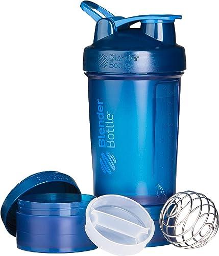 Blender Bottle ProStak Full Colour Shaker Bottle, Navy, 650 ml Capacity