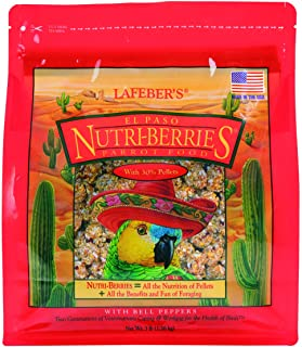 LAFEBER'S El Paso Nutri-Berries Pet Bird Food, Made with Non-GMO and Human-Grade Ingredients, for Parrots, 3 lb