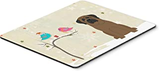 Caroline's Treasures BB2556MP Christmas Presents Between Friends Bullmastiff Mouse Pad, Hot Pad or Trivet, Large, Multicolor