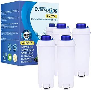 4 Pack Filtre à café Remplacement pour DeLonghi DLSC002, SER3017 et 5513292811 - y compris les versions de la série ECAM, ...