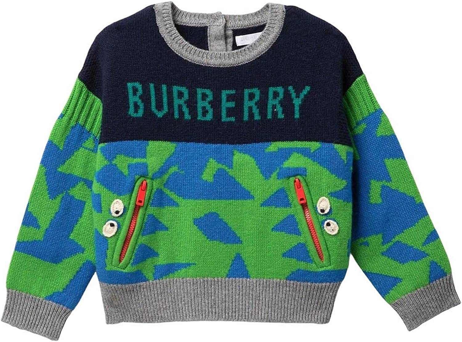 Burberry Boys Dawn Logo Monster Sweater, Brand Size 3Y Youths/Junior