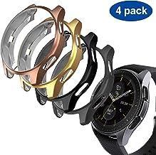 GeeRic Funda Compatible para Samsung Galaxy Watch 46mm / Gear S3, 4Pcs Funda Prueba de choques de TPU Slim Plated Edge-Around Funda Compatible para Galaxy Watch 46mm Negro/Gris Espacio/Oro/Oro Rosa
