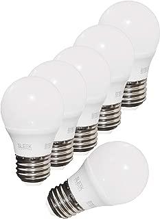 SleekLighting 5.5W A15 Dimmable LED Lightbulb (6 Pack) - General-Purpose Household Lighting Bulb -Warm White (3000k) - 450lm, HL Chip, 240 Degree, E26, UL & ES Listed - Uses 5.5 Watts of energy, 120 V