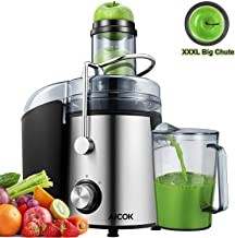 AICOK Juicer Extractor 1000W Centrifugal Juicer Machines Ultra Fast Extract Various Fruit and Vegetable Juice, 75MM Large Feed Chute Easy Clean Juicer with 2 Speed Control,Anti-drip, BPA Free