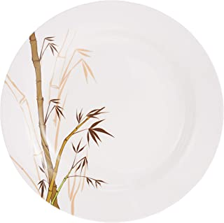 Dinewell Plates & Dishes, White/Green, H 9.4 x W 20.4 x D 8.4 cm, Melamine