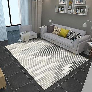 Tapis Chambre Tapis de Salon Style Moderne Simples Rayures Noires et Blanches Tapis pour Intérieur, Extérieur, Entrée, Esc...