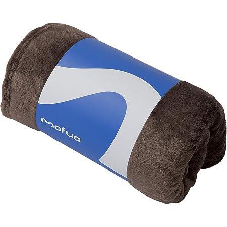 mofua (モフア) 毛布 シングル(140×200cm) ブラウン オールシーズン 発売10周年 プレミアムマイクロファイバー 静電気対策強化 洗える ブランケット エコテックス認証 50000106