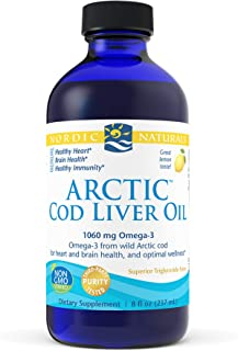 Nordic Naturals - Arctic CLO, Heart and Brain Health, and Optimal Wellness, Lemon, 8 Fl Oz (Pack of 1)