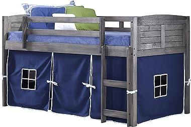 DONCO KIDS Louver Loft Bed, Twin, Antique Grey
