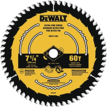Dewalt Dwa171460 7 1 4 Inch 60 Tooth Circular Saw Blade Amazon Com