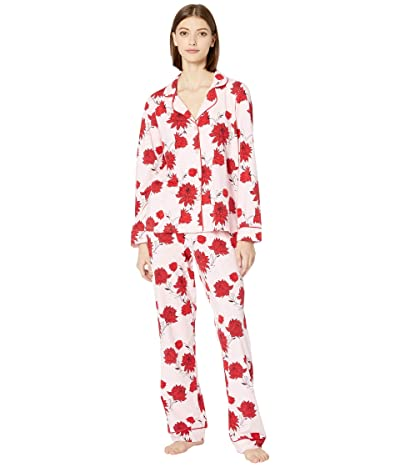 BedHead Pajamas Long Sleeve Classic Notch Collar Pajama Set (Budding Romance) Women