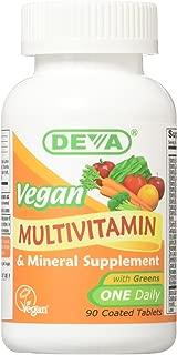 Deva Nutrition Vegan Vitamins Daily Multivitamin & Mineral Tablets (Pack of 2)