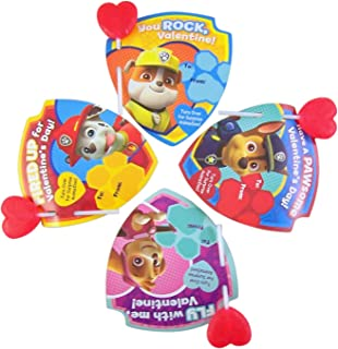 Paw Patrol Animated Valentines Cards and Lollipops Classroom Exchange Kit, 25 Count