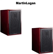 MartinLogan (1 Pair) Motion 15 Gloss Black Cherrywood Bookshelf Loudspeaker Bundle