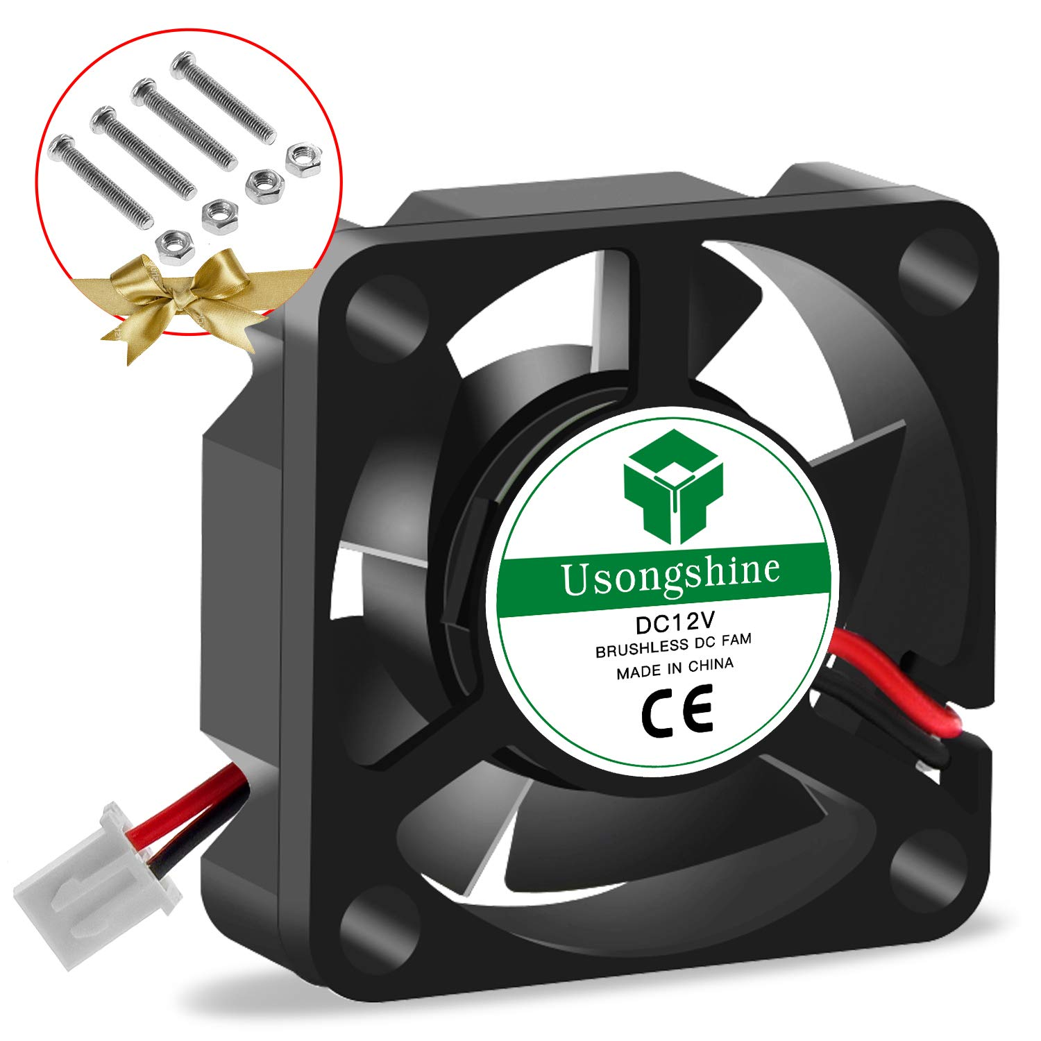 Usongshine 3D Printer Cooling Fan 50 x 50 x10mm 5010 DC 24V Cooling Fan with 2Pin Wire 4 Packs of Mounting Screws 24V 4PCS