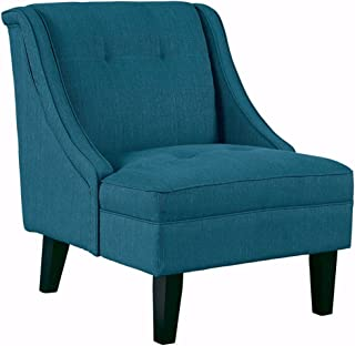 Signature Design by Ashley - Clarinda Accent Chair - Wingback - Modern - Blue