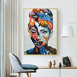 RTCKF Cuadro de Lienzo para niñas Mural Abstracto Lienzo Pintura Decorativa Impresión Mural Cartel Decoración de la Sala A2 40x50cm