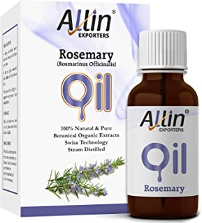 Allin Exporters Rosemary Oil 15 Ml For Skin, Muscle & Joints For Use In Aromatherapy