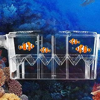 Caja de escotilla flotante y transparente, multifunción, de doble capa, para acuario, criadero con trampa de alevines vivos