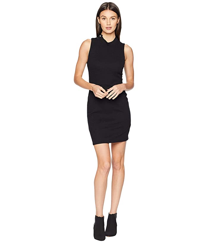 Jack by BB Dakota Honey Ryder Knit Jacquard Bodycon Dress (Black) Women