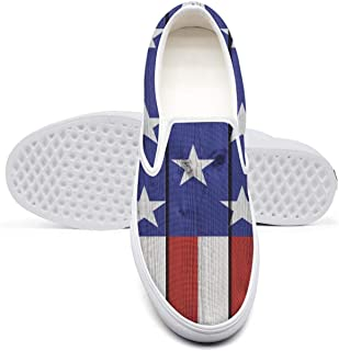 American Flag Pot Stars College Student Classic Canvas Sneakers Non-Slip Wear-Resistant Rubber Sole Walking Shoes