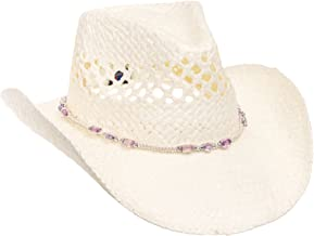 MG Womens Straw Outback Toyo Cowboy Hat