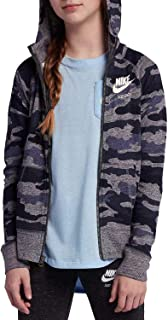 Nike Girl's Vintage Just Do It Full-Zip Camo Hoodie AQ0604 471