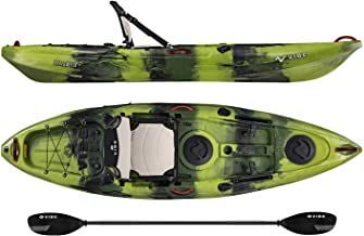 Vibe Kayaks Yellowfin 100 10 Foot Angler Sit On Top Fishing Kayak with Paddle, Adjustable Hero Comfort Seat, Flush Rod Holders & Built in Storage