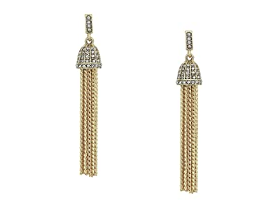 J.Crew Pave Ridged Tassel Earrings (Crystal) Earring