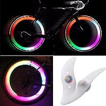 TRIXES Paia di fanalini LED Che cambiano Colore da Applicare ai Raggi della Bicicletta.