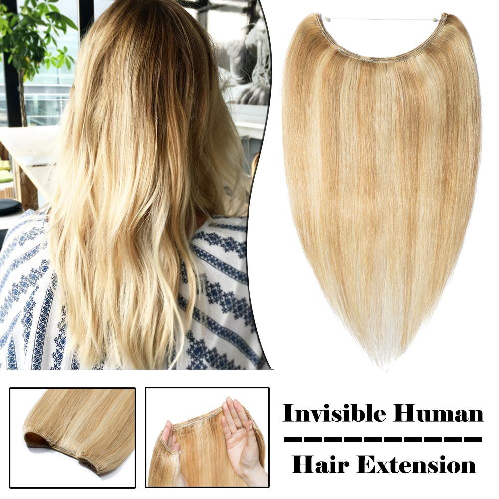 S-noilite 5 popular Invisible Hidden Crown Human Extensions Hair Houston Mall