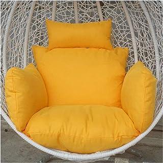 Cesta para colgar Cojines para sillas con forma de huevo Cojín para columpio de ratán colgante Cojín suave / Cojín para columpio de hamaca para colgar en forma de huevo / Cojín para silla de ratán in