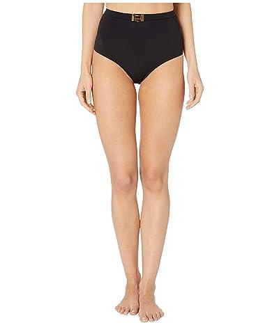 Tory Burch Swimwear T-Belt High-Waisted Bottoms (Black) Women