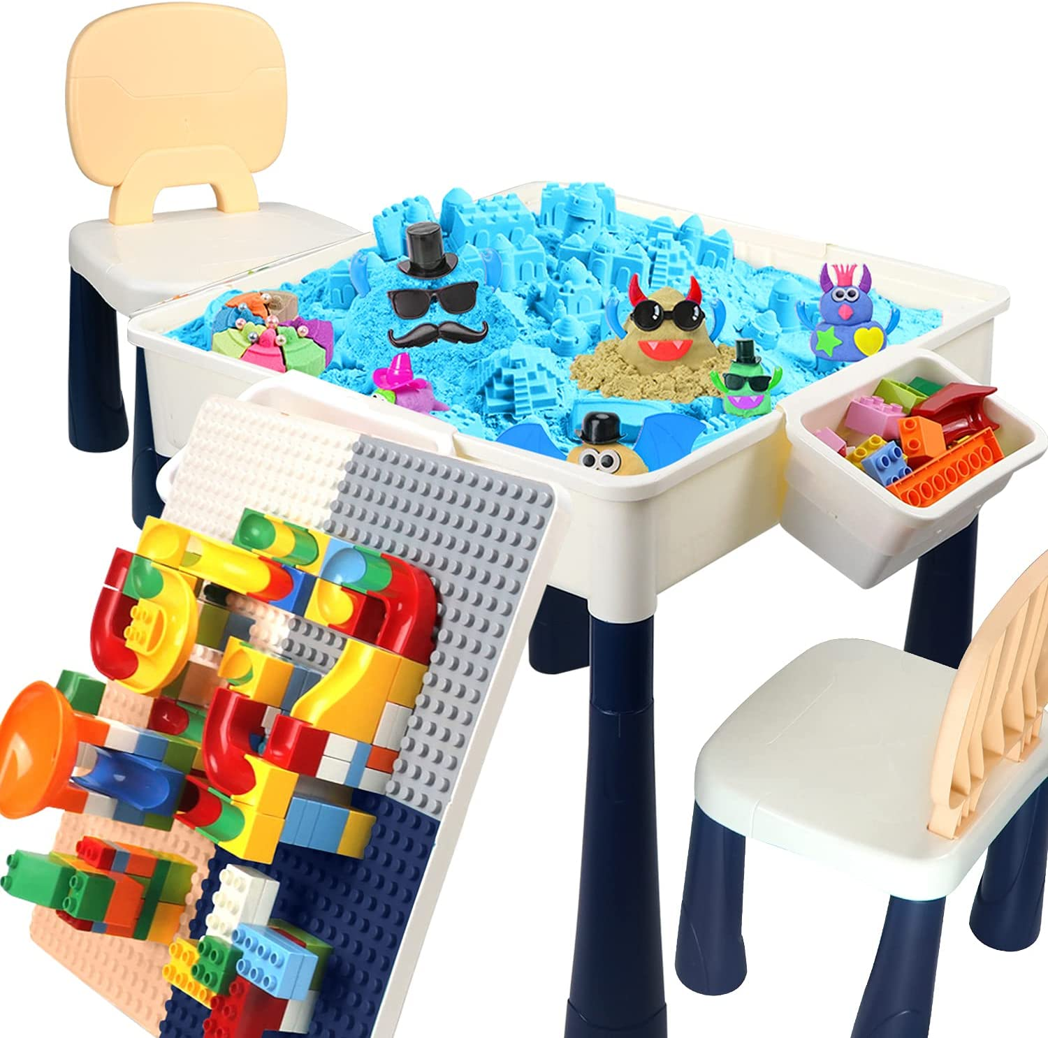 Toddler Cheap Table Factory outlet Chair Set 7-in-1 Multi wit Kids Activity